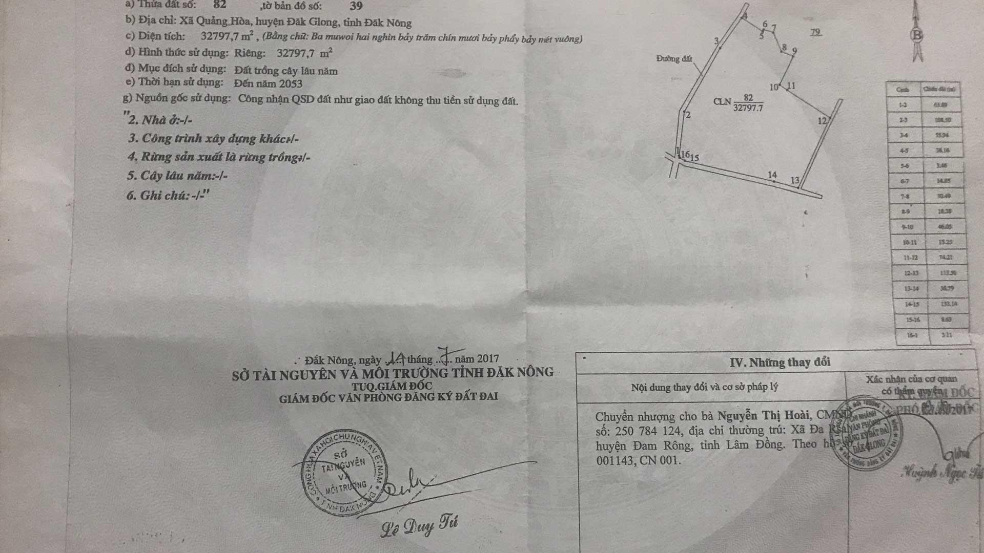 Mua Bán RẪY TRỒNG SẦU RIÊNG,LÀM VƯỜN Xã Quảng Hòa, huyện Đăk Glong , tỉnh Đăk Nông